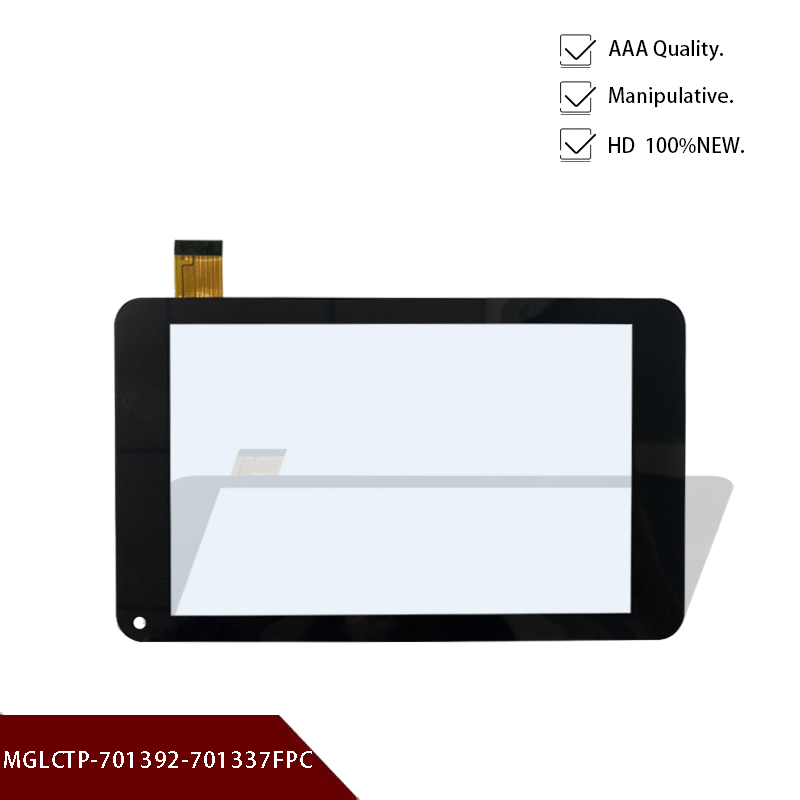 Original New Black 7''inch Touch Screen Touch Digitizer Replacement Glass Panel MGLCTP-701392-701337FPC Free Shipping