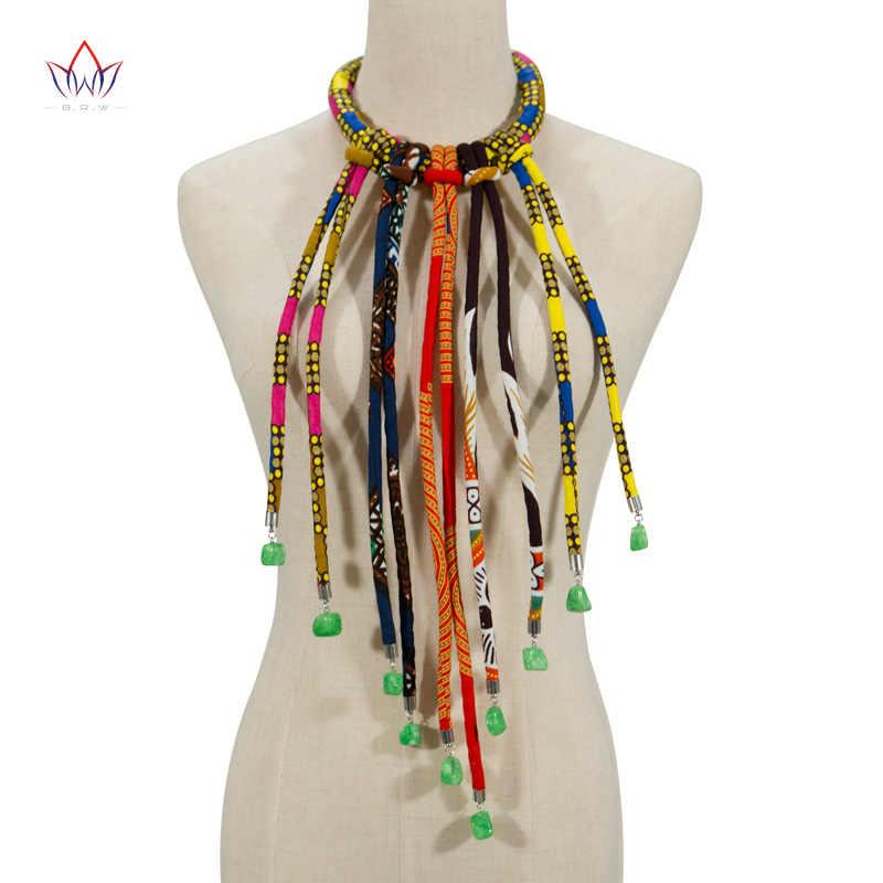 Châu Phi 2019 Dây Vòng Cổ In Ankara Dây Vòng Cổ In Châu Phi Dân Tộc Handmade trang sức Châu Phi vải trang sức Nữ SP012