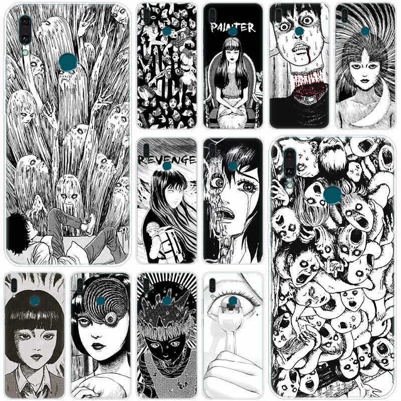 Hot Junji Ito Tees Horror Soft Silicone Phone Case for Huawei Mate 30 20 10 Lite Pro Y9 Y7 Y6 Prime Y5 2019 2018 Pro 2017 Cover