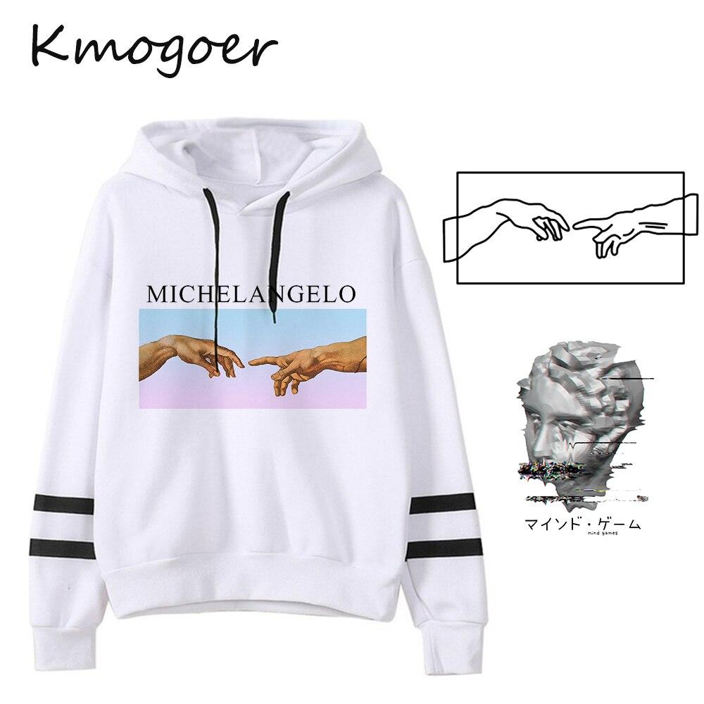 Women Sweatshirt David Michelangelo Aesthetic Hoodies Funny Print Harajuku Art Hoodie Hip Hop Streetwear Female Hoodie Coat