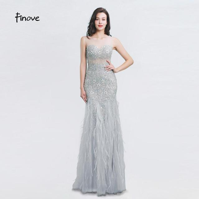 New Arrival Long Evening Dresses 2020 Short Sleeves with Beaded Feather Floor Length Mermaid Prom Dress scoop neck vestid