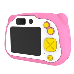 2 Inch 1920X1080P HD Kids Camera, Dual Lens Flash and Auto Focus with 16G TF Card for 3-12 Year Old Children Toys Gift