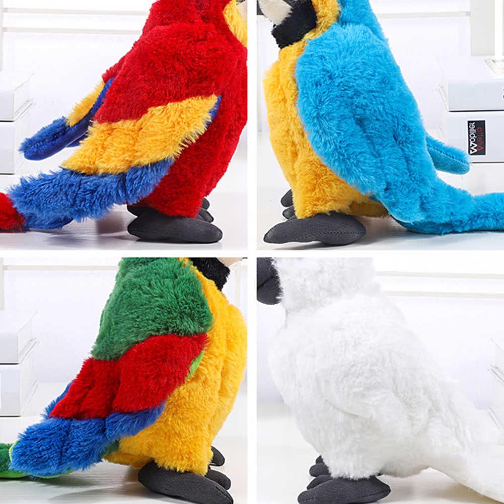 Simülasyon peluş papağan kuş peluş doldurulmuş bebek çocuk oyuncağı dekorasyon simülasyon peluş oyuncak çocuk noel partisi hediye