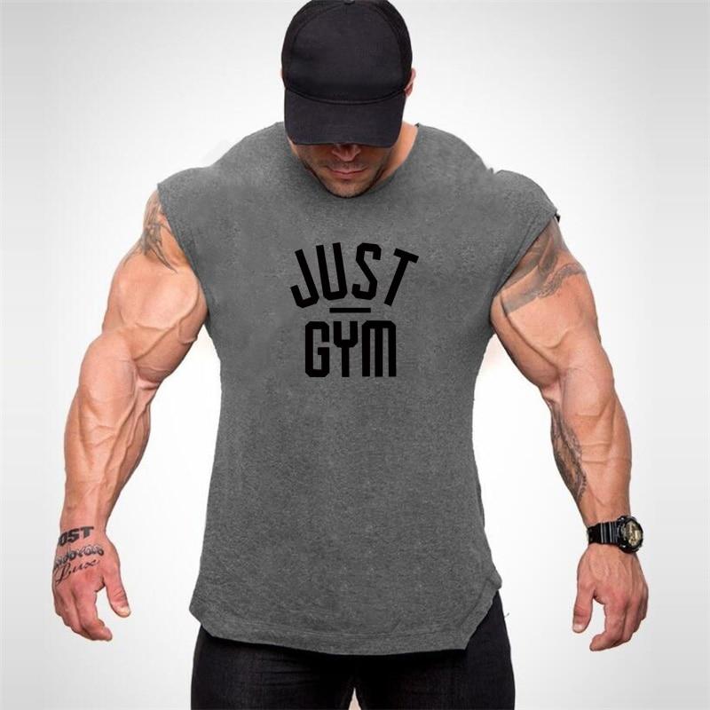 Muscleguys Clothing Fitness Mens Bodybuilding Clothes Summer Gym   tank     top   men streetwear workout Sleeveless tee shirt homme