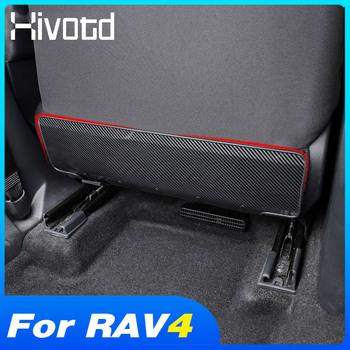 Dla Toyota Rav4 2019 2020 akcesoria na tylne siedzenie samochodu Anti-Kick ochrona pedał pokrywa ABS z włókna węglowego dekoracja wnętrz części tanie i dobre opinie Hivotd CN (pochodzenie) ABS Carbon Fiber Wnętrza listwy 0 45kg 2019 2020 2021 Anti-kick pedals for car seat Interior Mouldings