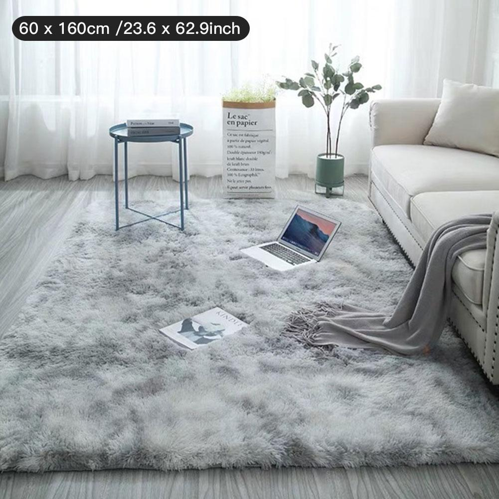 Tie-dye Carpet Floor Bedroom Mat Gradient Color Fluffy Soft Area Rugs Antiskid Living Room Coffee Table Bedroom Hallway Mat