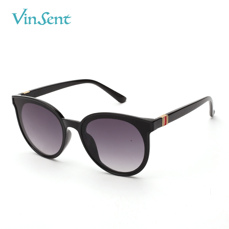 VinSent New Brand Designer Vintage Sunglasses Women Retro Clear Lens Eyewear Round Sun Glasses For Female Ladies UV400