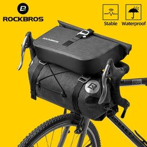 Image 1 - ROCKBROS Bicycle Bag Big Capacity Waterproof Front Tube Cycling Bag MTB Handlebar Bag Front Frame Trunk Pannier Bike Accessories