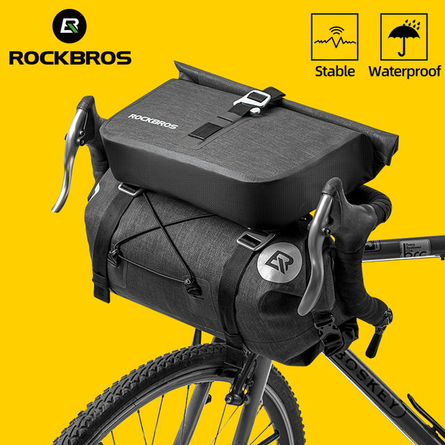 ROCKBROS Bicycle Bag Big Capacity Waterproof Front Tube Cycling Bag MTB Handlebar Bag Front Frame Trunk Pannier Bike Accessories