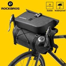 ROCKBROS Bolsa para manillar, resistente al agua, gran capacidad, para ciclismo de montaña