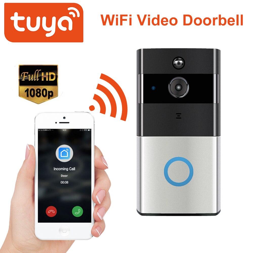 Tuya Smart Video Doorbell 1080P WiFi Video Intercom SmartLife APP Remote Control Wireless Door Bell Camera Home Security Monitor
