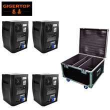 Stackable 4in1 Flight Case Pack China Stage Effect Cold Fireworks Machine DMX512 (wireless optional) No Fire Spark Equipment 2pcs lot 6 angle dmx fire machine 90v 240v dmx512 flame projectors spray fire machine safe to use 200w fire effect stage light