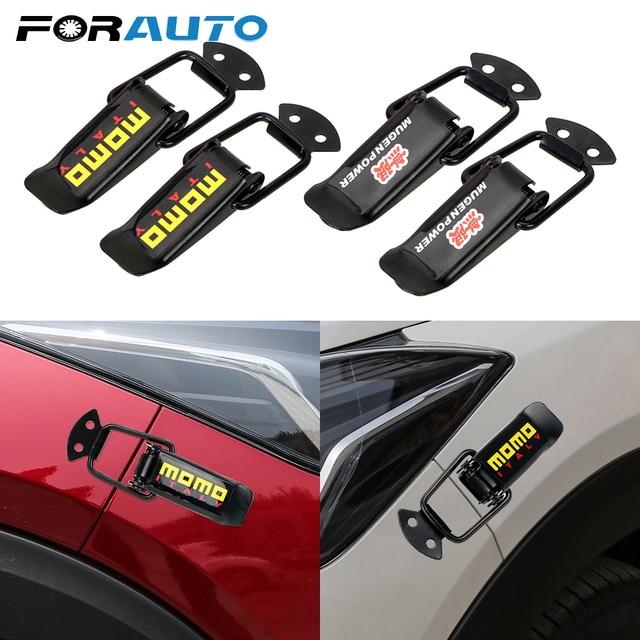 2 Pcs Car Truck Hood Clip Hasp Car Bumper Security Hook Quick Release Fasteners Lock Clip Kit for Racing Auto Accessories