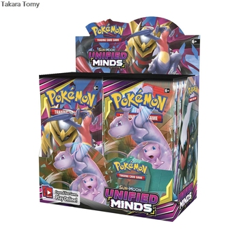 324pcs Pokemones card TCG:  Unified Minds Trading Card Game A Box of 36 Bags Collection English language 1
