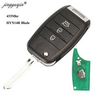 Image 2 - Jingyuqin 3 Pulsante di Vibrazione A Distanza di Chiave Dellautomobile 433MHZ ID46 ID70 Chip Per Kia K5 Sorento Sportage 2013 2014 2015 keyless Fob