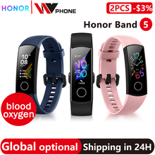 Globale version Optional Honor band 5 smart band AMOLED herz rate fitness schlaf schwimmen sport blut sauerstoff tracker