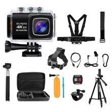 MountDog 4K Sport Action Kamera mit EIS Funktion Fernbedienung Unterwasser Wasserdicht 30M Video Rekord Cam mit Zubehör
