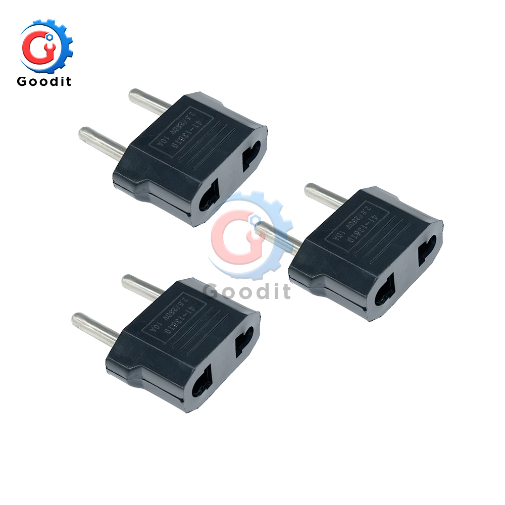 3pcs <font><b>CN</b></font> US To <font><b>EU</b></font> Euro Europe Plug <font><b>Adapter</b></font> 2 Round Socket Converter Travel Electrical Power <font><b>Adapter</b></font> Socket China To <font><b>EU</b></font> Plug image