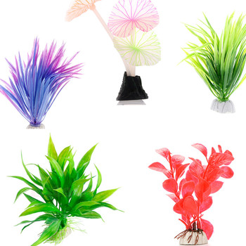 Plastic Artificial Water Plant Grass Aquarium Decorations Plants Fish Tank Grass Flower Ornament Decor Aquatic Accessories