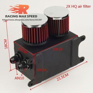 Image 2 - Aluminum Universal Racing AN10 Oil Catch Tank Can Turbo Reservoir Catch Oil Catch Can Breather Tank OCT1120