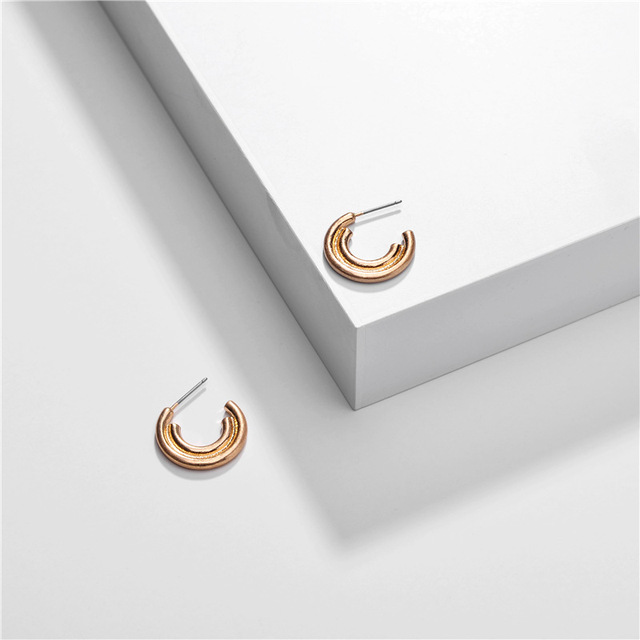 20mm 32mm Unique Snail Hoop earrings Double-deck Circle Loop Earring Simple Party Round Loop Earrings for Women Jewelry