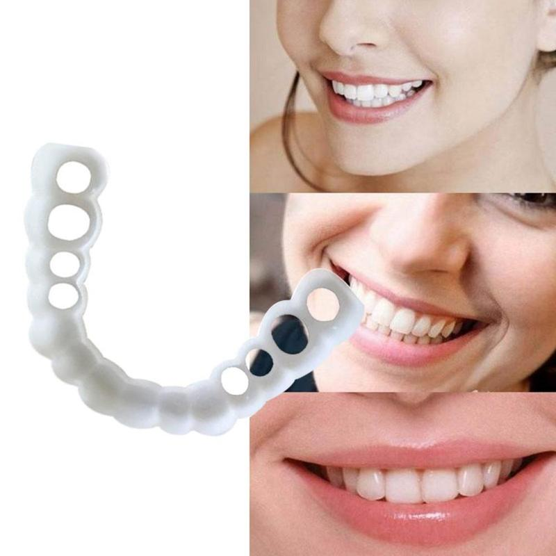 Teeth Whitening Snap On Smile Teeth Cosmetic Denture Instant Perfect Smile Teeth Fake Tooth Cover One Size Fits