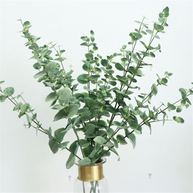 1pc Artificial Rattan Fabric Eucalyptus Pulp Money Leaf Wedding Birthday Party Living Room Decor Fake Green Plant Leaf 5