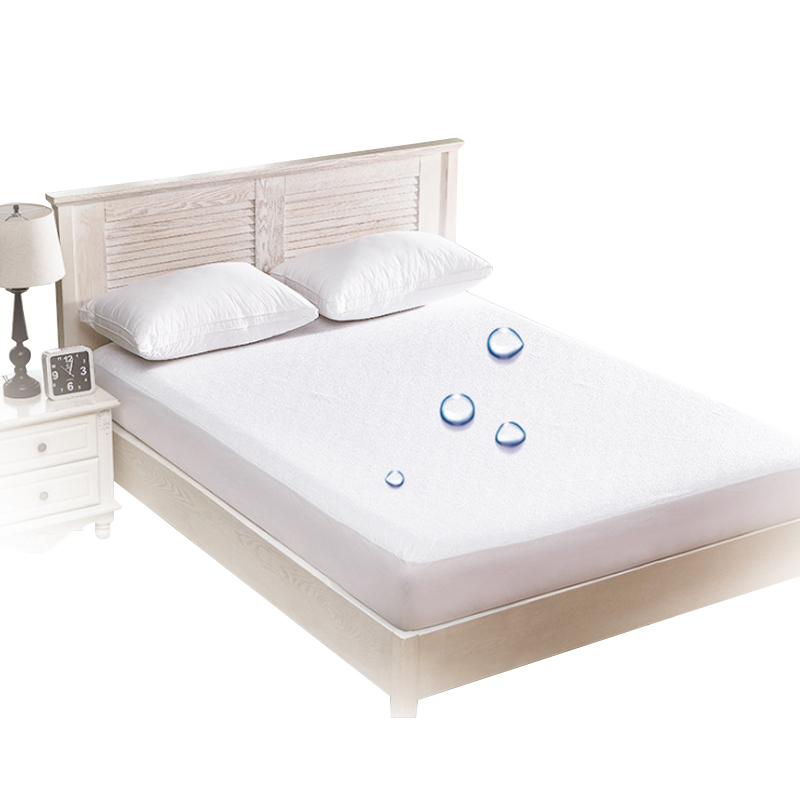 Multiple Sizes Waterproof Mattress Cover Anti Mites Terry Cloth Bed Protector Pad Bed Sheet Bed Bugs Proof Mattress Topper Queen