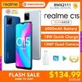 Realme C15 глобальная версия 4 Гб Оперативная память 64 Гб Встроенная память 6000 мА/ч, Батарея Helio G35 13MP Quad Камера