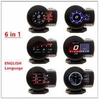 Car Digital Boost Gauge Profession Magician F8 F835 OBD 2 Display Voltage Speed Meter ect Water Temp Alarm Auto Diagnostic