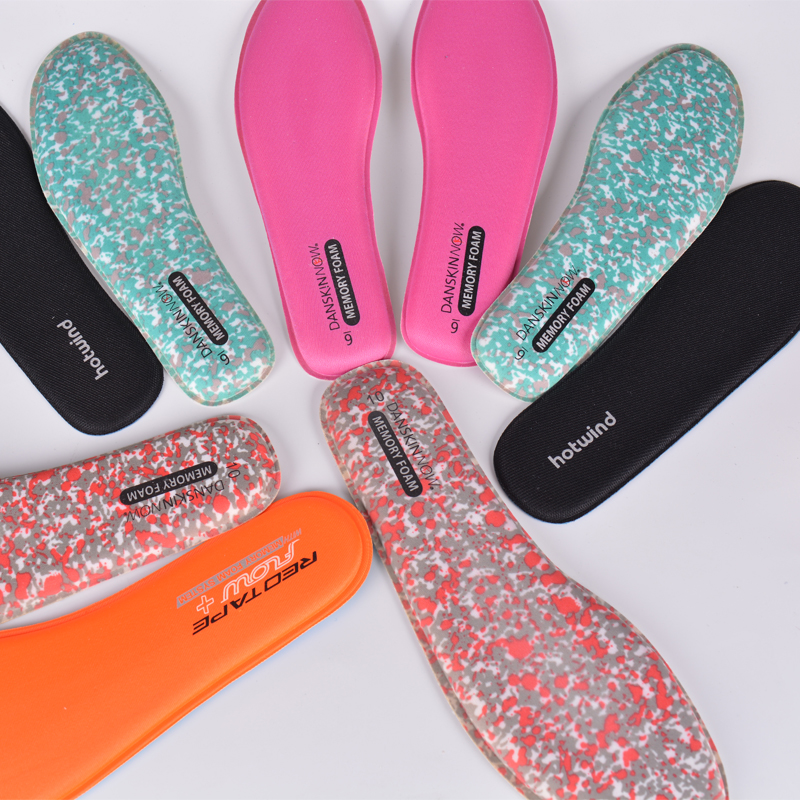 3 Pairs Memory Foam Ortholite Stretch Breathable Deodorant Running Cushion Insoles For Feet Man Women Insoles For Shoes Sole Pad
