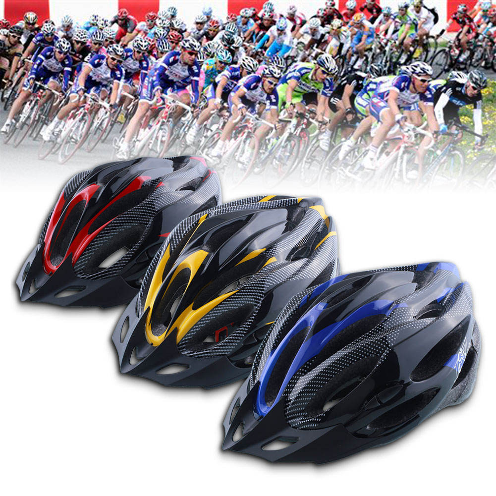 Cycling Helmet Adjustable Ultralight Road 65 Cm Bike Red/Yellow/Blue Shockproof with Visor cycling helmet Riding accessories|Bicycle Helmet| |  - title=