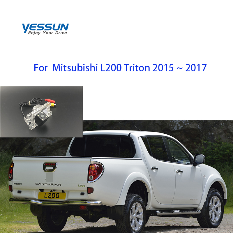 Yessun License Plate Camera For Mitsubishi L200 Triton 2015 ~2017  Car Rear View Camera Parking Assistance