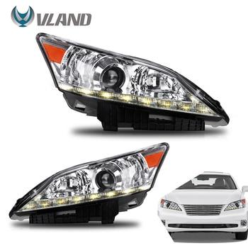 VLAND completas de led de los faros para Lexus ES350 2010-2012 faro con DRL secuencial señal fábrica accesorio de coche luces led