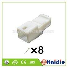 O envio gratuito de 2 conjuntos 8pin auto fio elétrico terminal cabo arnês unsealed conector 1565804-2 1565804-1