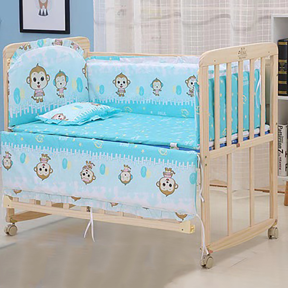 Baby Bed Bumper Cot Protector Baby Room Decor For Head Protector Cushion Cotton Crib Baby Room Decor