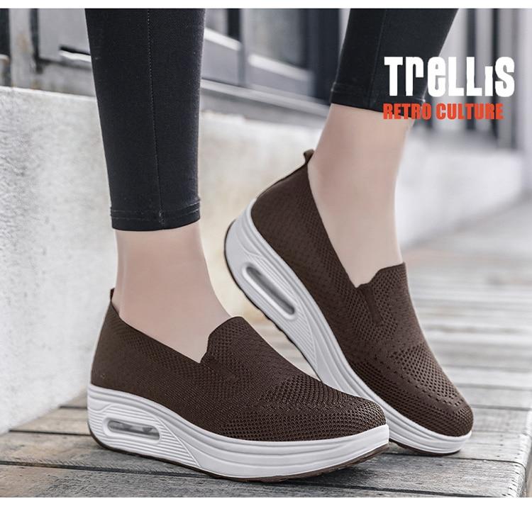 QJ 869-2020 New Spring Autumn Women's Flat Shoes Comfortable Nurse Sneakers-9