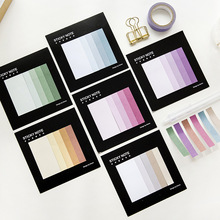 Korea Stationery Creative Gradient Index Classification Label Sticker Marker Sticky Convenience n Times Color