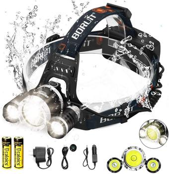[top sell!]Headlamp Headlight 8000 LM With 3*Cree XML T6 L2 LED Bright Flashlight Hands-Free Rechargeable & Waterproof Work Ligh sitemap 165 xml