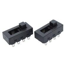 2pcs 12A 250V 3 위치 8 핀 토글 슬라이드 딥 스위치 LQ 103H 헤어 드라이어 JJ 15 용 핫 콜드 윈드 필립스 Flyco FH6218/20/21/31