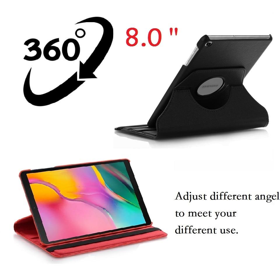 8.0'' Coque for Samsung Galaxy Tab A 8.0 2019 SM-T290 T295 T297 Case 360 Rotation Smart PU Case for Samsung Tab A 8.0 T290 Cover-2