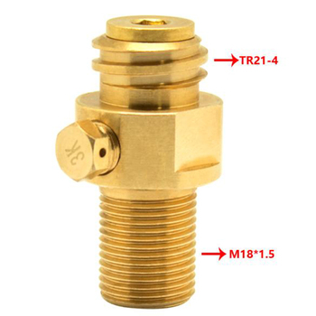 1*CO2 Pin Valve Upgraded Replacement For SodaStream CO2 Pin Valve M18*1.5 M18 Brass Adapter Surface plating