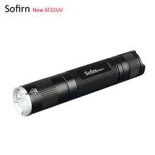 Sofirn nowy SF32UV 18650 latarka palnik UV światło Nichia 365nm najlepsza lampa UV weryfikacja banknotów wykrywanie środka fluorescencyjnego