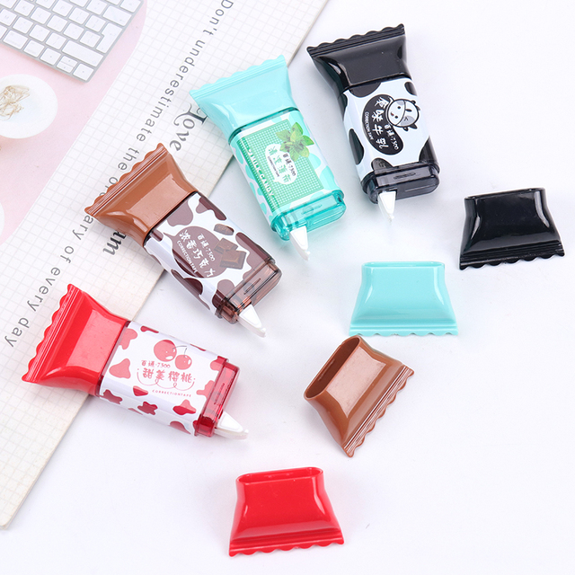 1PC Kawaii Sweet Candy Correction Tape Cute Correcting Tape Office School Supplies Writing Correction Stationery 3.5m