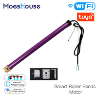 35mm Smart Tubular Roller Blinds Motor Smart Home Automation Build in Tuya Chip App Remote Control Work with Alexa Google Home