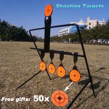 Objetivo de disparo de Rifle giratorio, reinicio automático, objetivo de Metal para práctica de tiro de caza al aire libre/juego, 5/7/9