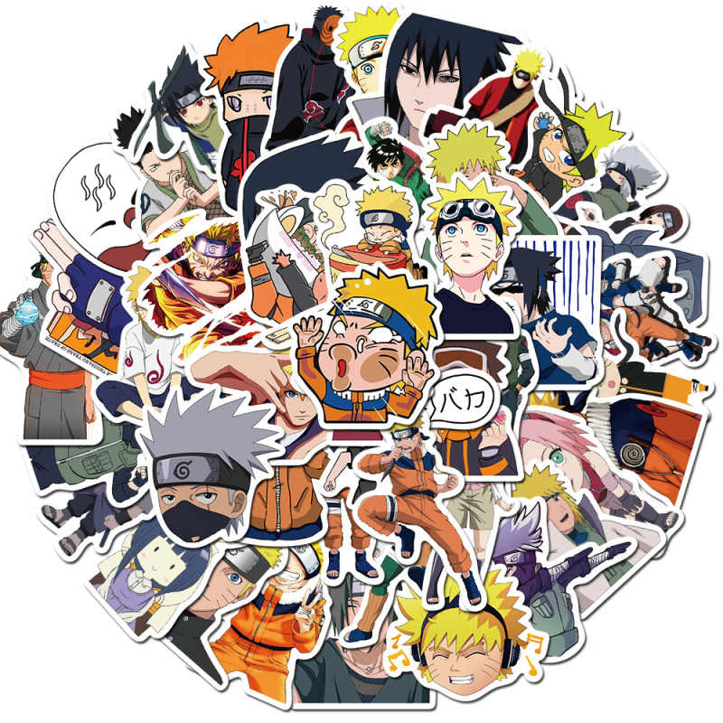 50Pcs Naruto Japan Anime Waterdichte Stickers Voor Snowboard Laptop Bagage Koelkast Auto Telefoon Case Decal Home Decor Stickers