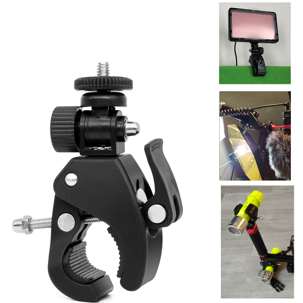 Camera Pipe Super Clamp with 1/4