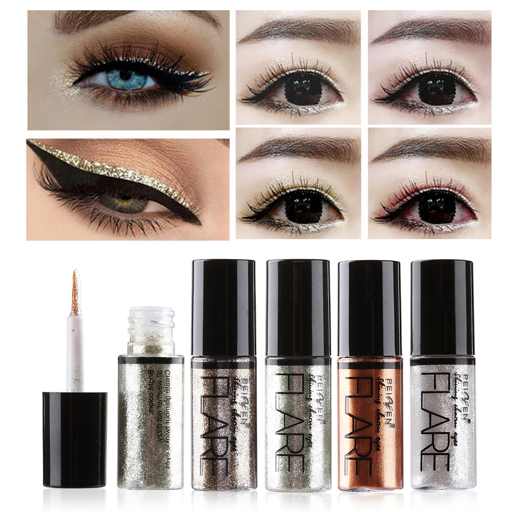 1Pc New Professional Shiny Eye Liner Pen Cosmetics For Women Silver Rose Gold Color Liquid Glitter Eyeliner Makeup Beauty Tools