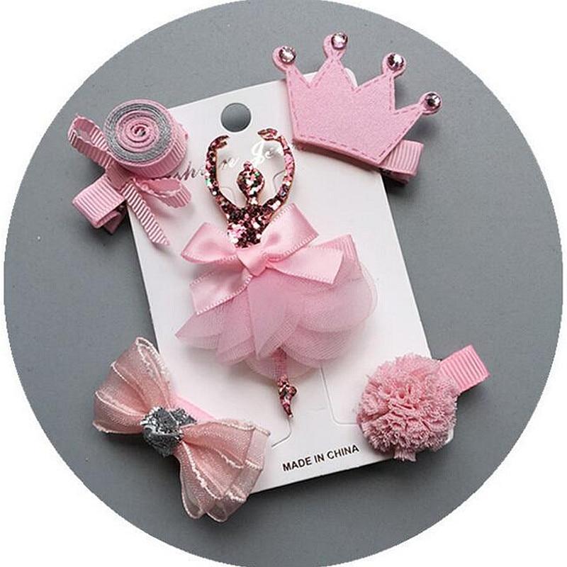 5 Unids / set Niños Barrettes Horquillas Sombreros flor niñas arcos - Accesorios para la ropa - foto 4